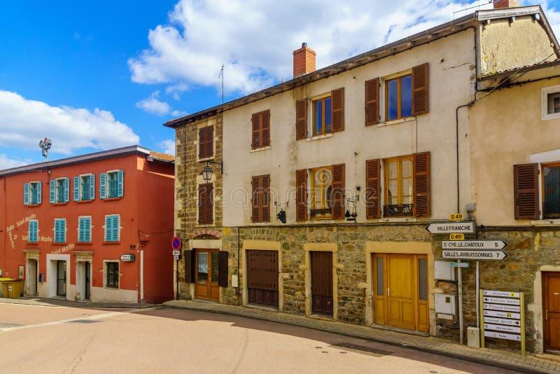 Vaux-en-Beaujolais en el Beaujolais, departamento de Rhone imágenes de archivo libres de regalías