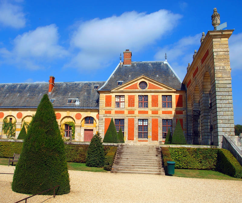 Vaux Le Vicomte,法国,在巴黎附近的城堡 免版税库存照片