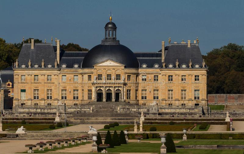 The Vaux-le-Vicomte castle, near Paris, France. royalty free stock images