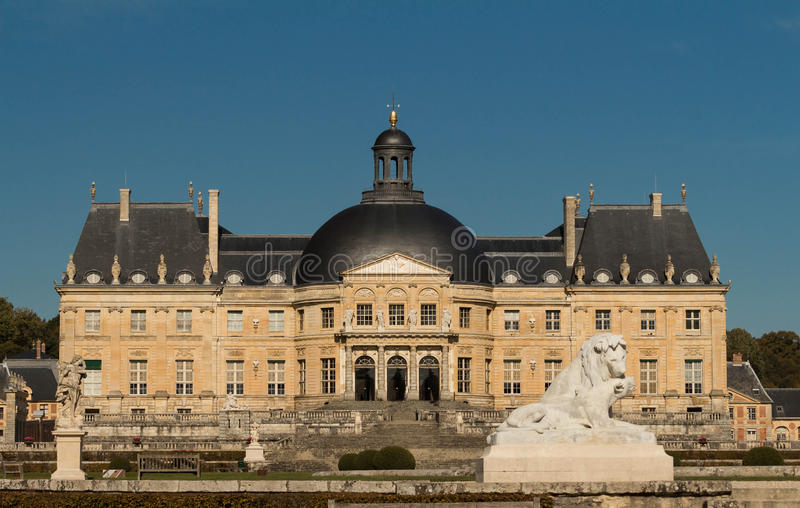 The Vaux-le-Vicomte castle, France. The Vaux-le-Vicomte is a Baroque French castle constructed from 1658 to 1661 for Nicolas Fouquet, the superintendant of stock images