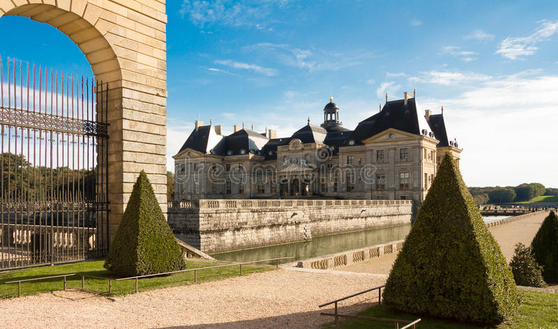 The Vaux-le-Vicomte castle, France. royalty free stock images
