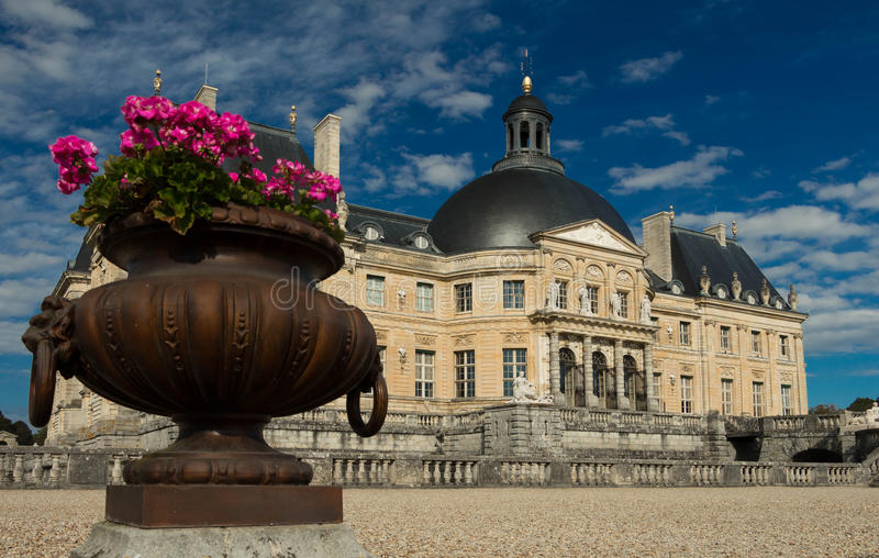 The Vaux-le-Vicomte castle, France. royalty free stock photo
