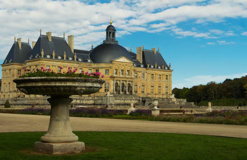 The Vaux-le-Vicomte castle ,France. royalty free stock images