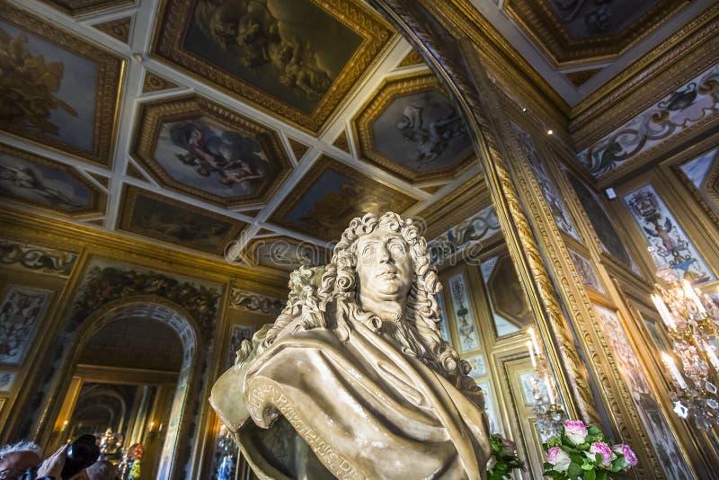 Vaux le vicomte castle, Maincy, France royalty free stock photo