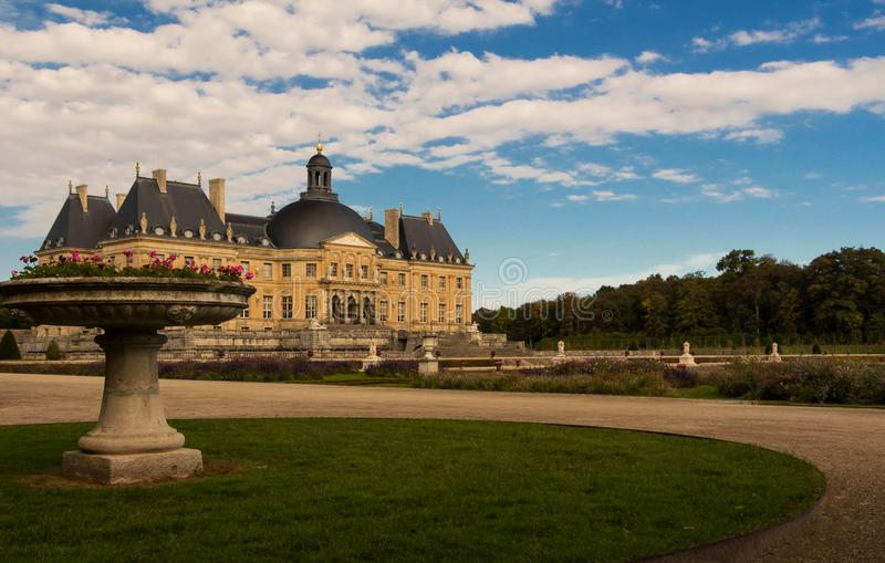 The Vaux-le-Vicomte castle, near Paris, France. stock image
