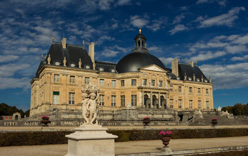 The Vaux-le-Vicomte castle, near Paris, France. royalty free stock photo