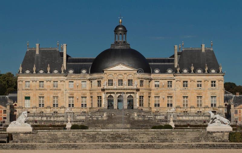 The Vaux-le-Vicomte castle, near Paris, France. The Vaux-le-Vicomte is a Baroque French castle constructed from 1658 to 1661 for Nicolas Fouquet, the stock image
