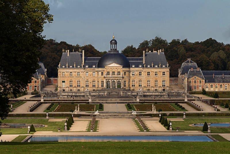 The Vaux-le-Vicomte castle, near Paris, France. The Vaux-le-Vicomte is a Baroque French castle constructed from 1658 to 1661 for Nicolas Fouquet, the stock images