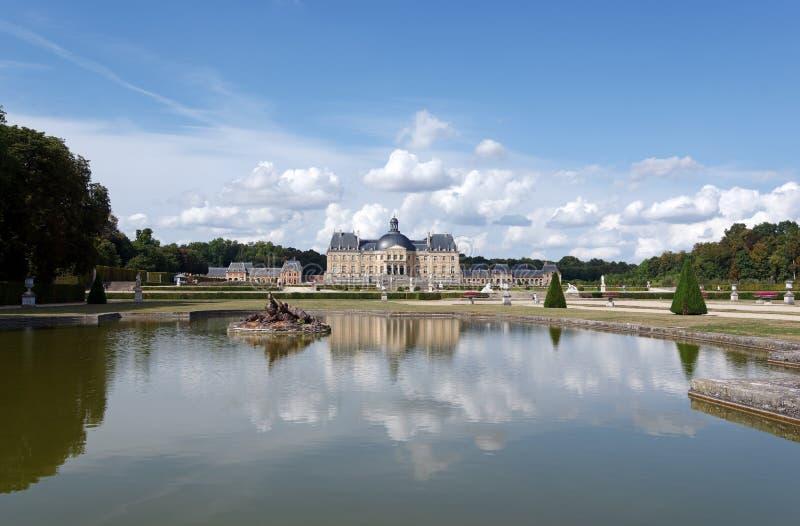 Vaux le Vicomte castle. In ÃŽle de France,country stock image