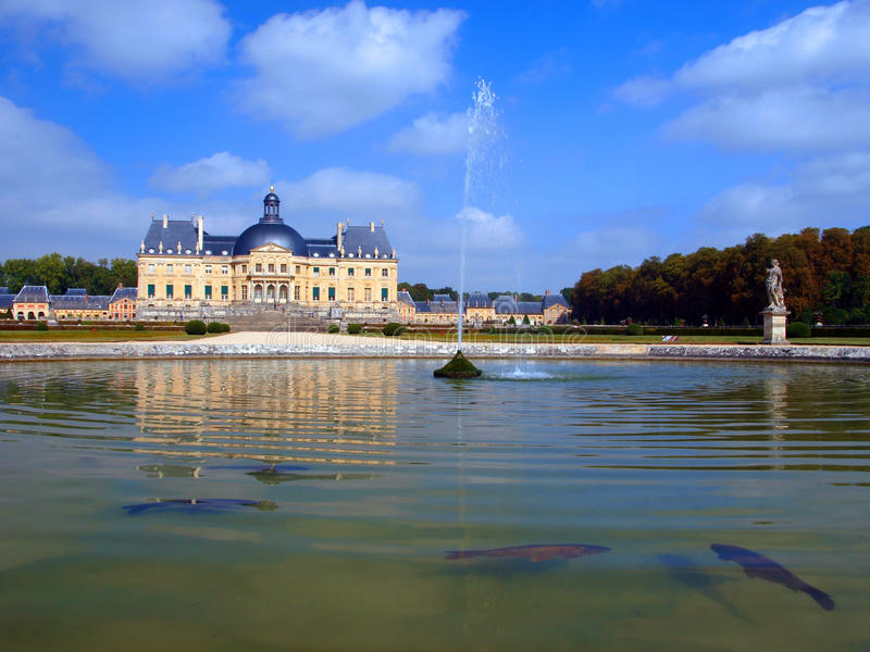 Vaux Le Vicomte, France, the castle near Paris royalty free stock photo