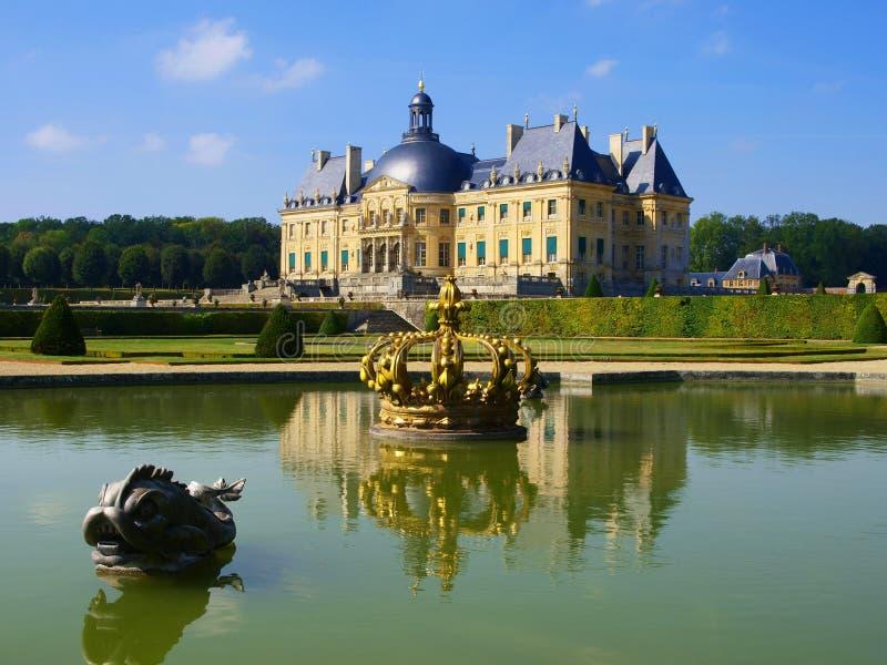 Vaux Le Vicomte, France, the castle near Paris royalty free stock photo