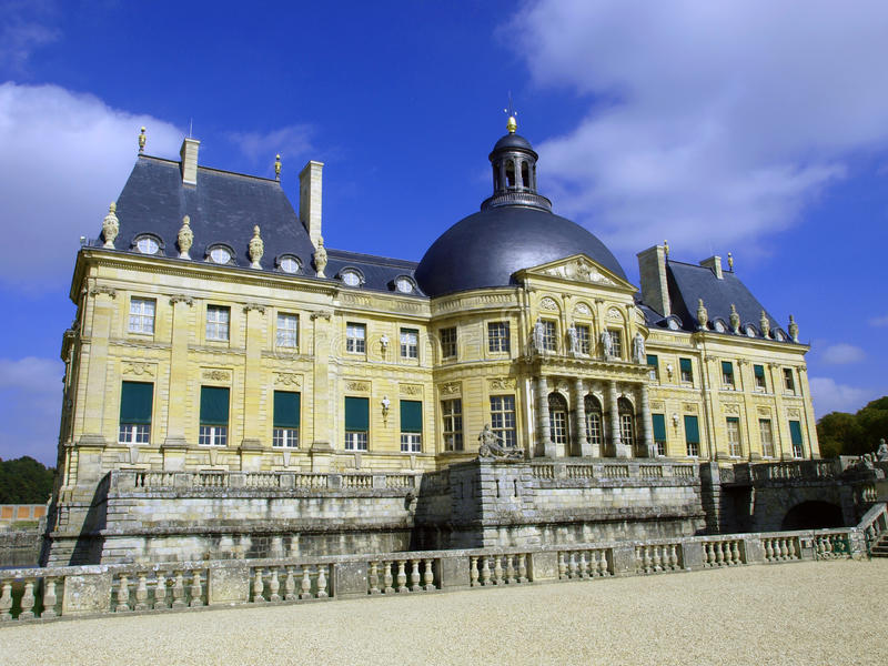 Vaux Le Vicomte, Frankrike, slotten nära Paris royaltyfri bild