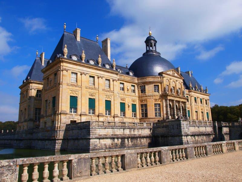 Vaux Le Vicomte, Frankrike, slotten nära Paris arkivbild