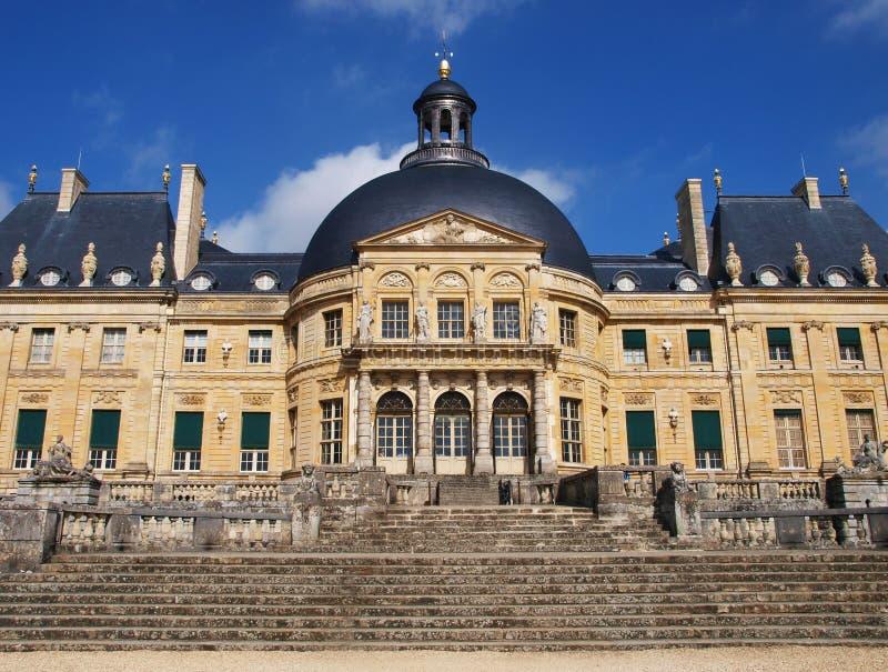 Vaux Le Vicomte, Frankrike, slotten nära Paris royaltyfria bilder