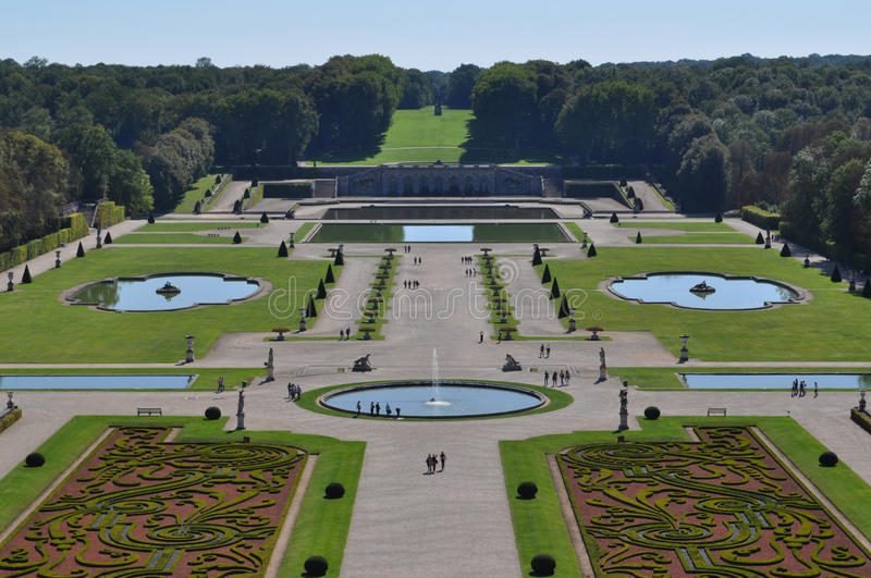 Vaux Le Vicomte garden stock photo