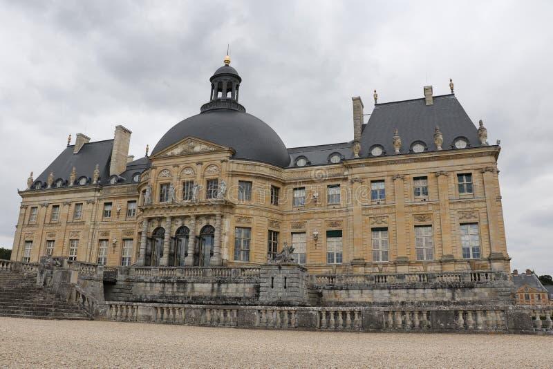 Vaux-le-Vicomte. The Palace of Vaux-le-Vicomte in France stock image