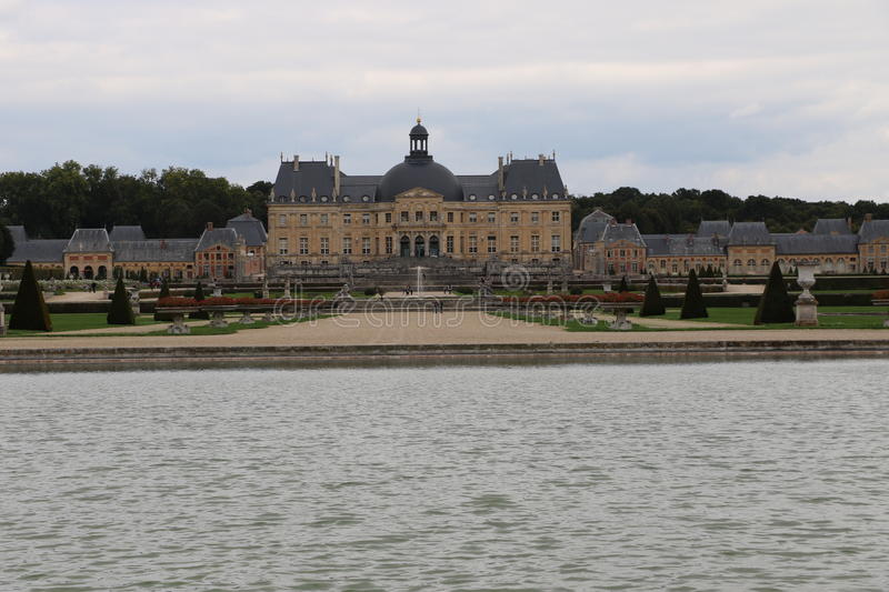 Vaux-le-Vicomte. The Palace of Vaux-le-Vicomte in France stock images