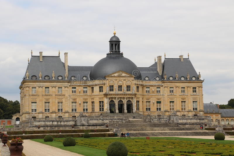Vaux-le-Vicomte. The Palace of Vaux-le-Vicomte in France royalty free stock photo