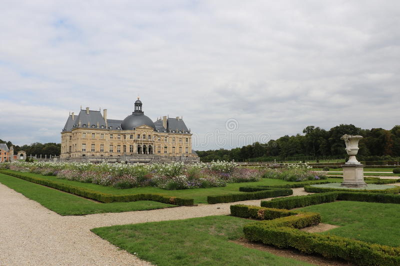 Vaux-le-Vicomte. The Palace of Vaux-le-Vicomte in France royalty free stock photos