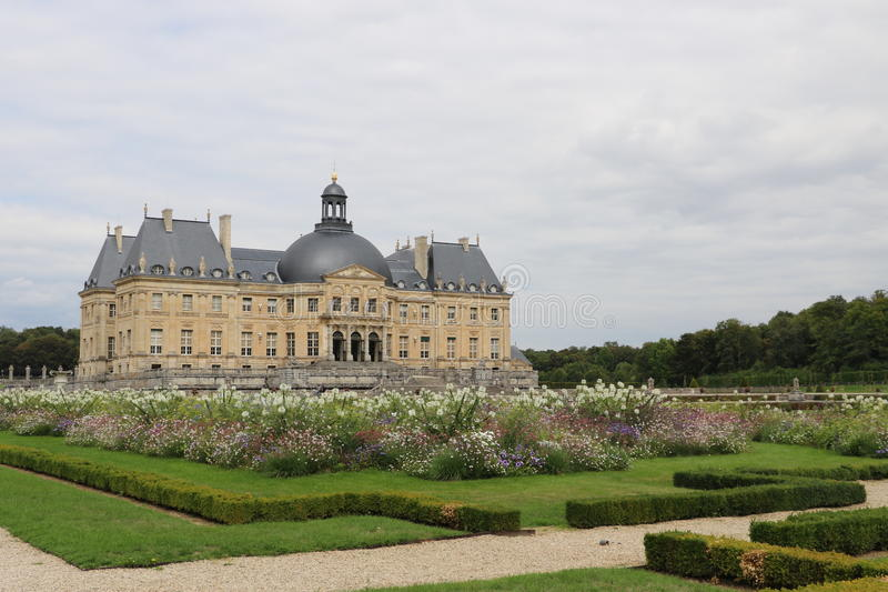 Vaux-le-Vicomte. The Palace of Vaux-le-Vicomte in France royalty free stock images