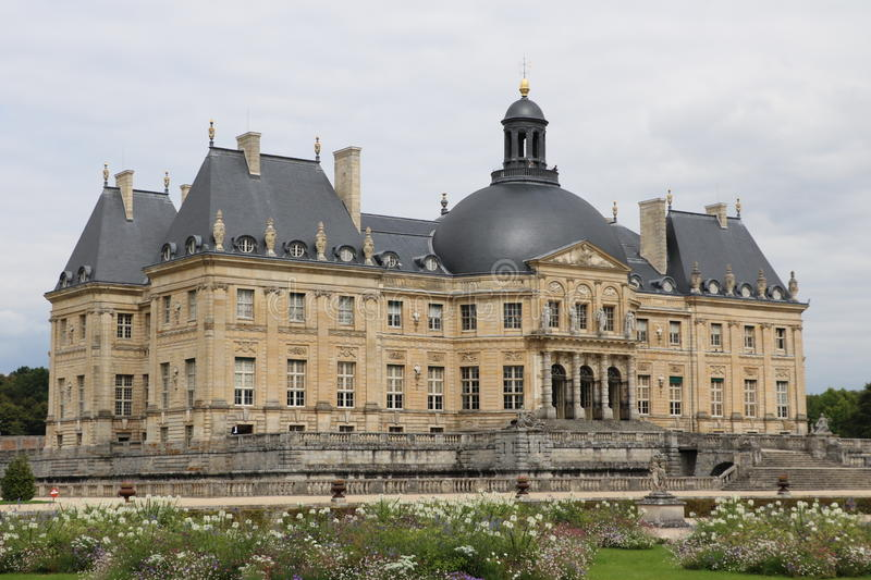 Vaux-le-Vicomte. The Palace of Vaux-le-Vicomte in France stock photos