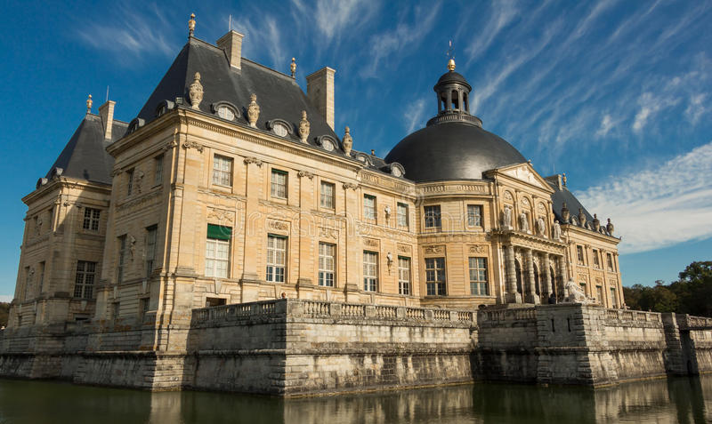 Vaux-le-Vicomte slotten, Frankrike arkivfoto