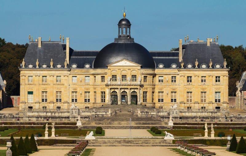 Vaux-le-Vicomte slotten, Frankrike royaltyfria foton