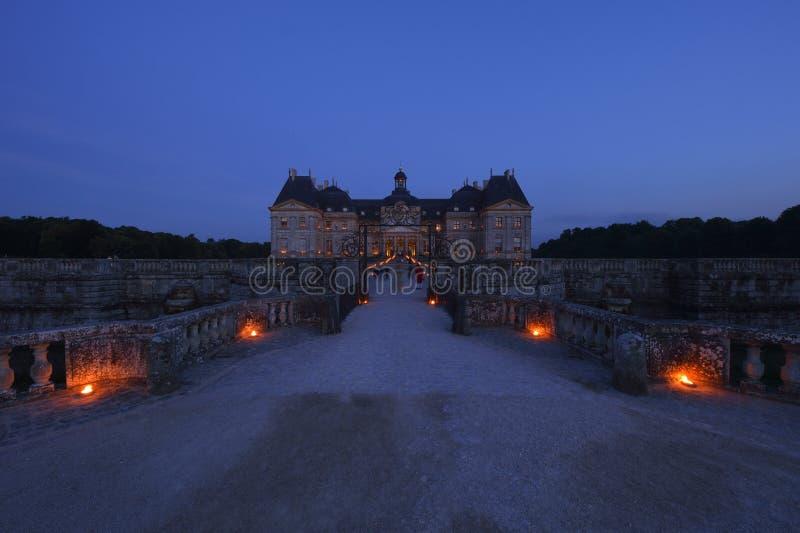 Vaux leVicomte -巴黎地区城堡  库存照片