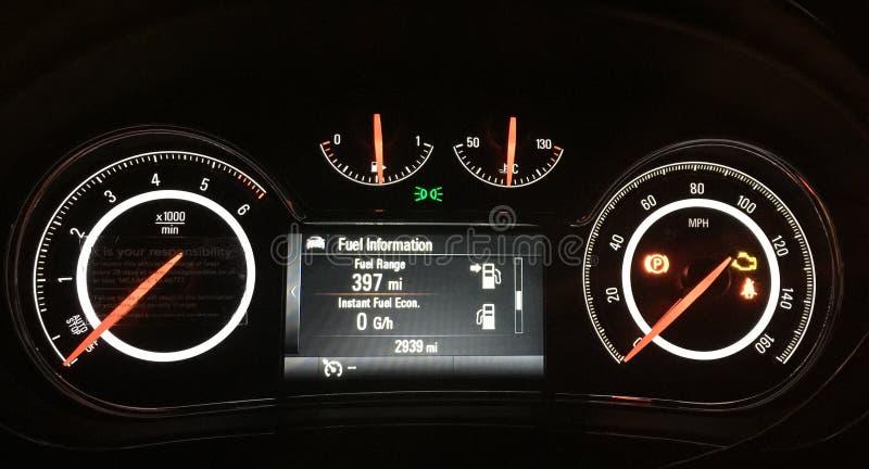 Vauxhall权威车速表 库存图片