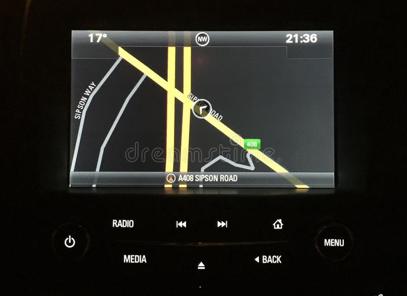 Vauxhall insygni satnav zdjęcia royalty free