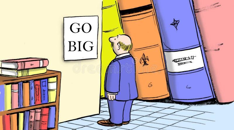 Vaya grande con el plan de las ventas del asunto libre illustration