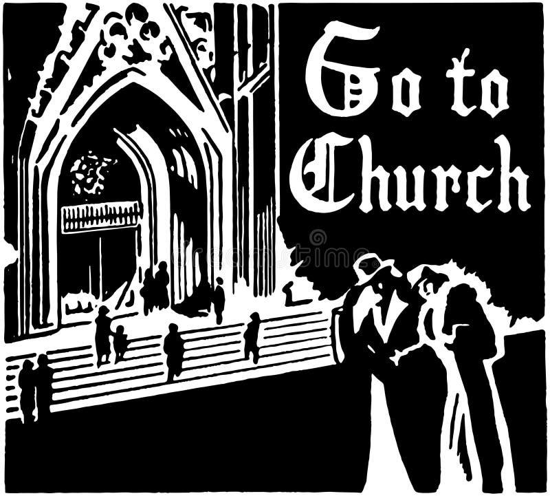 Vaya a la iglesia libre illustration
