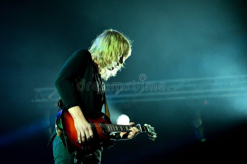 Vaya van actuación en directo de Berlín (banda) en el festival de Bime imagen de archivo
