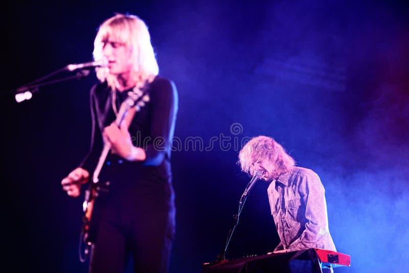 Vaya van actuación en directo de la banda de Berlín en el festival de Bime imagen de archivo libre de regalías