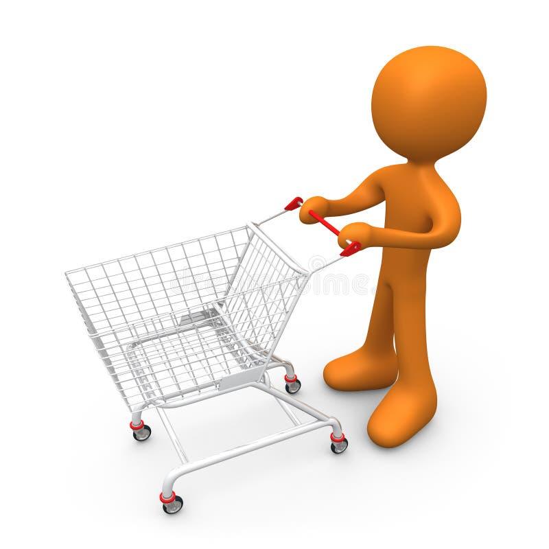 Vayamos a hacer compras ilustración del vector