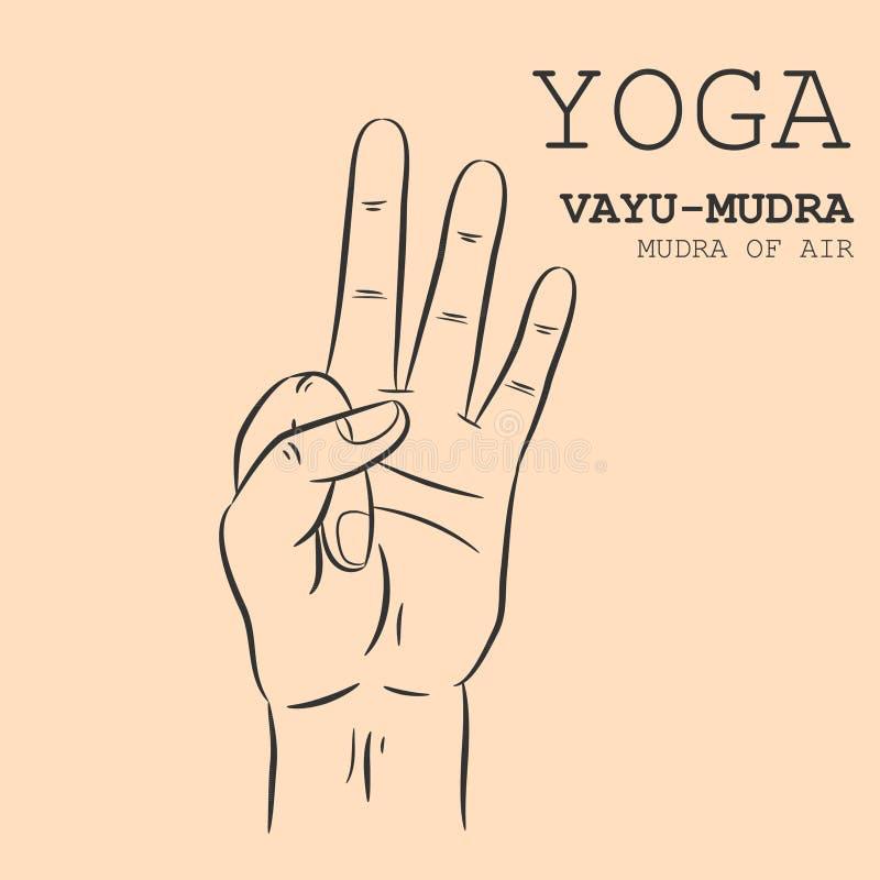 Vayu-Mudra stock illustratie