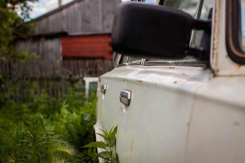 VAZ 2101 in the garden stock photo