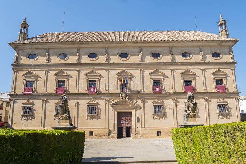 Vazquez De Molina Pałac pałac łańcuchy, Ubeda, Hiszpania obrazy stock