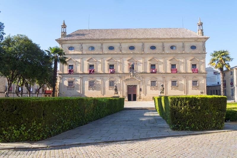 Vazquez De Molina Pałac pałac łańcuchy, Ubeda, Hiszpania zdjęcia royalty free