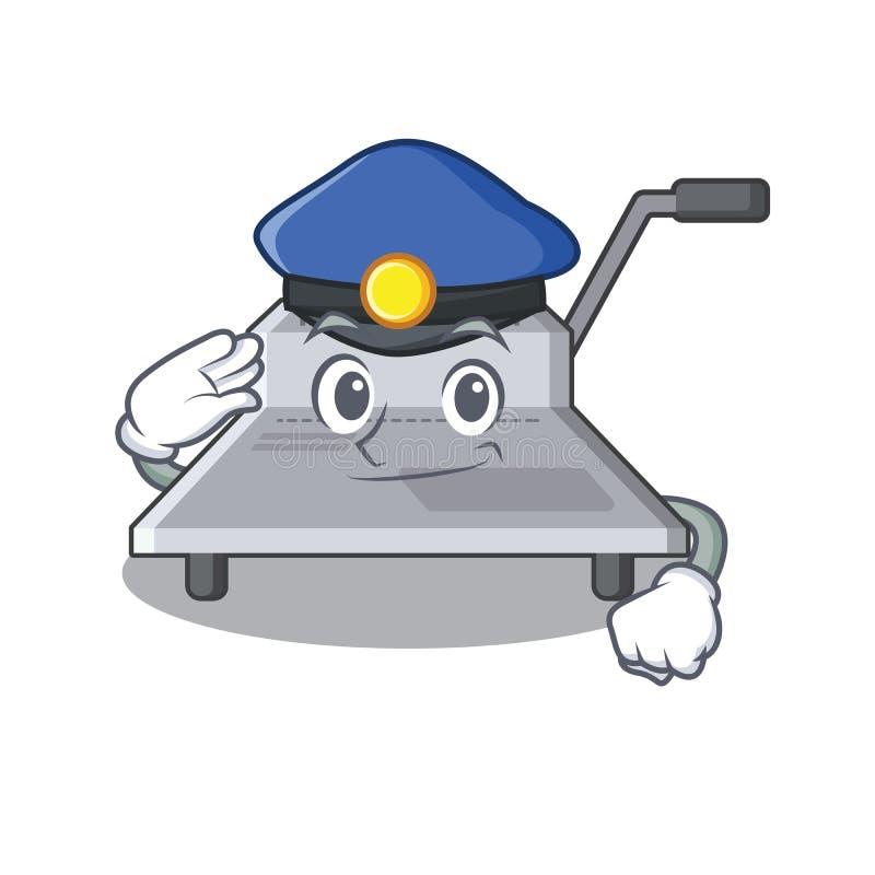 Vbinding μηχανή αστυνομίας που απομονώνεται στη μασκότ διανυσματική απεικόνιση