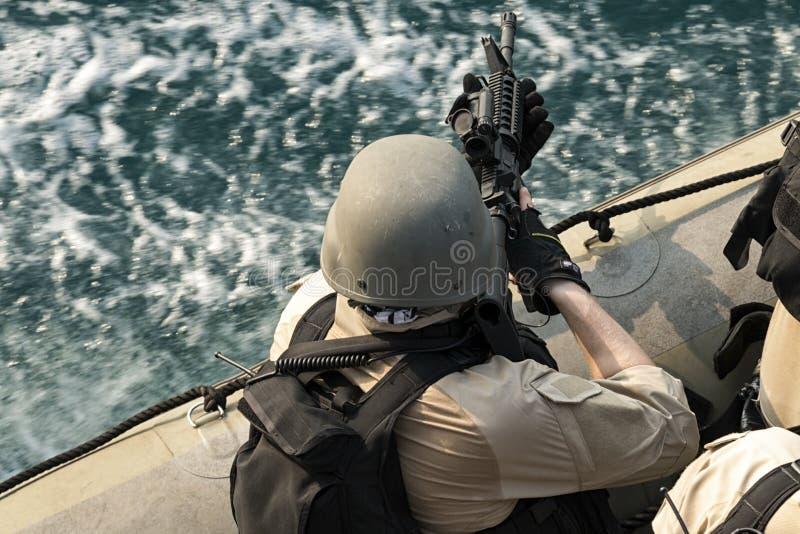 VBSS boat rider stock photos