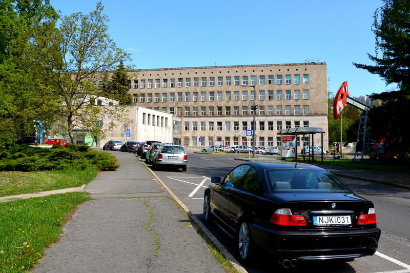 VCampus of the University of Miskolc, Topolcza, Hungary. The building of the University of Miskolc, build in 1952 in the nord west of Hungary stock image
