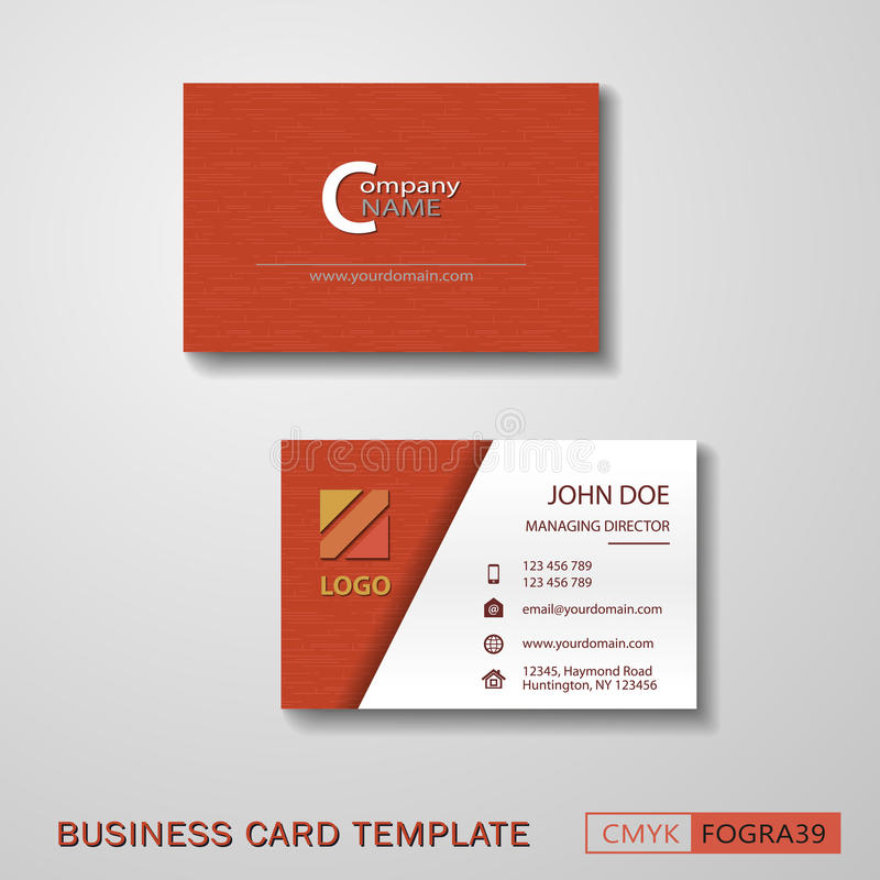 Vcard Business Card Set Red Stock Vector - Illustration of paper ...