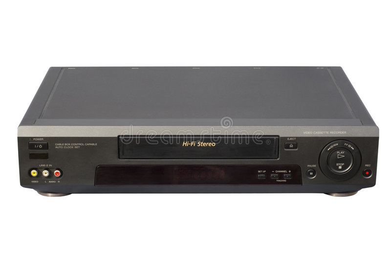 VCR negro de la alta fidelidad foto de archivo libre de regalías