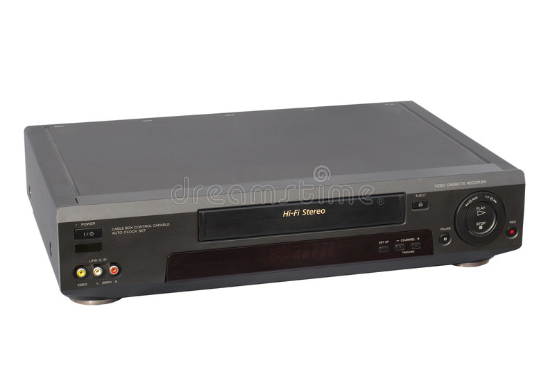 VCR preto da fidelidade imagens de stock
