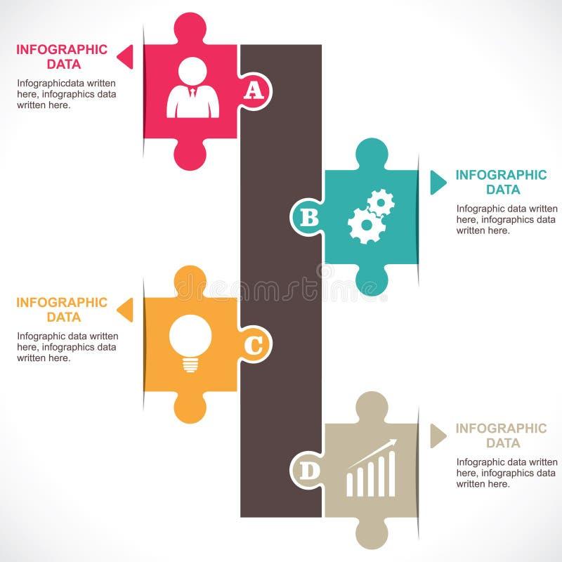 Infographics coloré illustration de vecteur