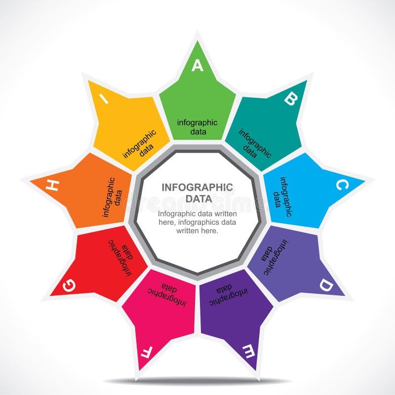 Negocio creativo Infographics stock de ilustración