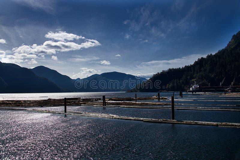 VCVR_2539. Pierce Range seen from across Muchalat Inlet, Vancouver Island, British Columbia royalty free stock photos