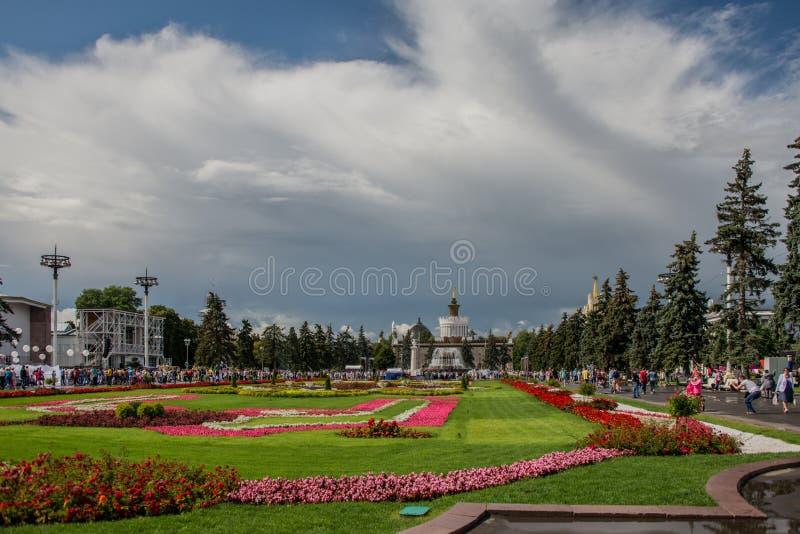 VDNH Wystawa osiągnięcia krajowi zasoby moscow Lato Kwiaty zdjęcia royalty free