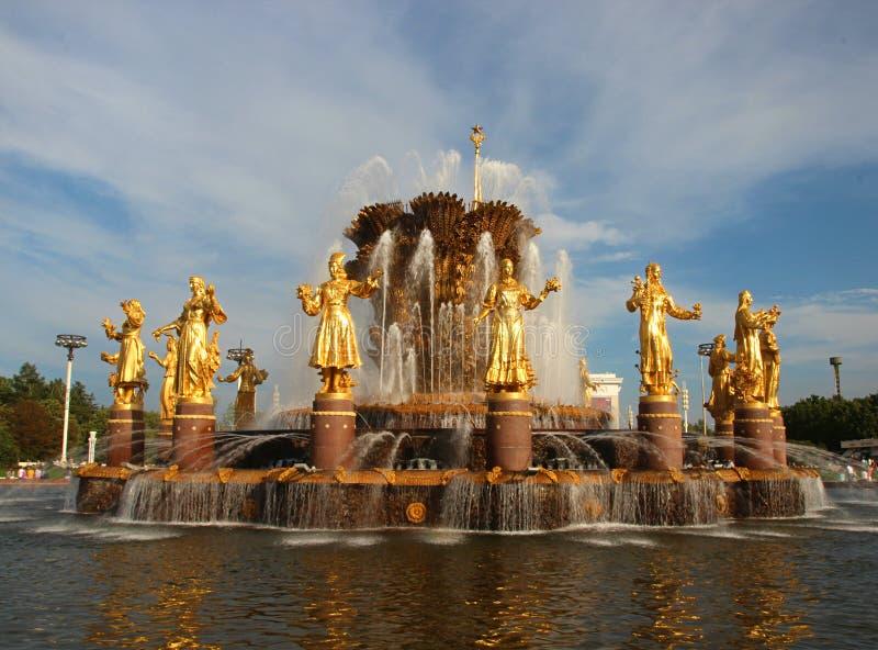 VDNKh springbrunn royaltyfri fotografi